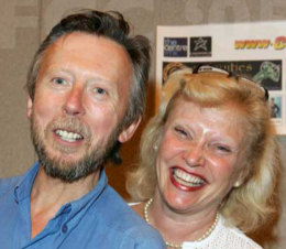 David and Sandra Dickinson at the London Film and Comicon in June 2005